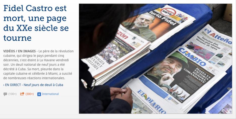 El francés Le Figaro también abrió con la noticia de la muerte del líder...