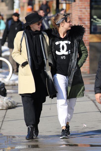 Las dos pasearon muy contentas por las calles de Nueva York.