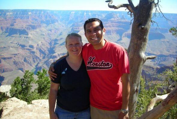 Junto con su esposa Shanon recorrieron el Parque Nacional del Gran Cañón.