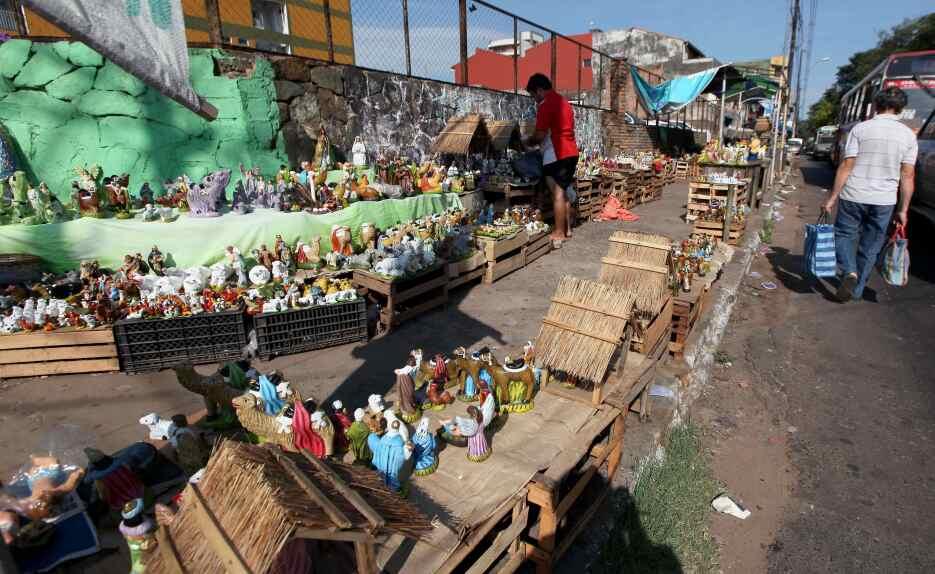En el mercado 4 de Asunción (Paraguay) puede encontrarse uno de los símb...