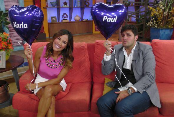Karla y Paul estaban felices con esta noticia y aprovecharon para promoc...