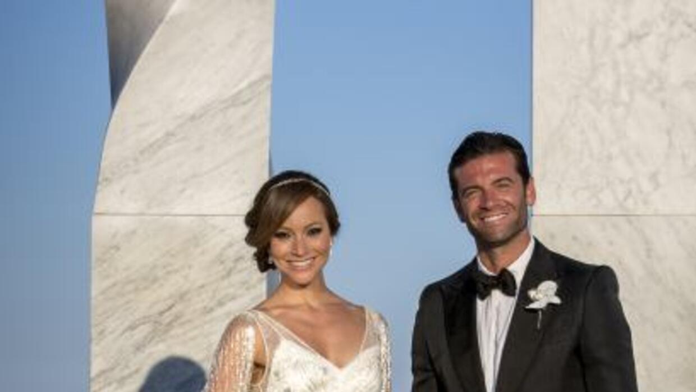 La foto oficial de los nuevos esposos. ¡Felicidades!