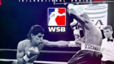 Estados Unidos contra Italia en la Serie Mundial de Boxeo.