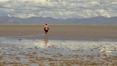 En fotos: el segundo lago más grande de Bolivia vuelve a tener agua