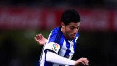 Carlos Vela con la Real Sociedad.