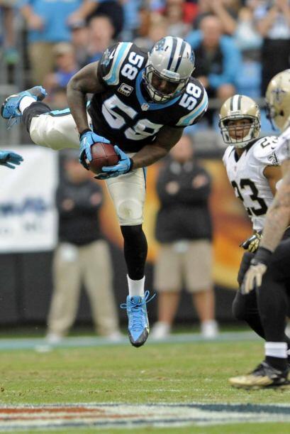 5. Thomas Davis, linebacker Carolina Panthers (AP-NFL).