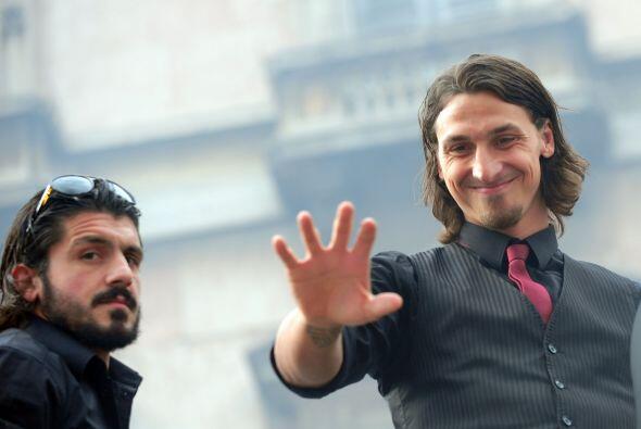Gattuso e Ibrahimovic fueron de los más ovacionados.