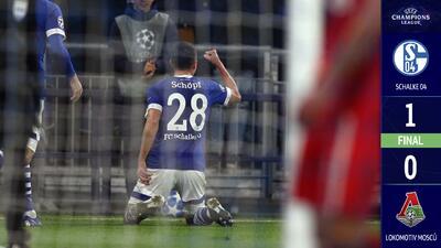 En un partido discreto, Schalke venció a un Lokomotiv que se quedó con las manos vacías