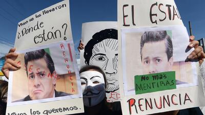 Protestaron por Ayotzinapa en 43 ciudades de EEUU