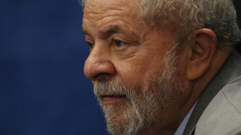 El expresidente Luiz Inácio Lula da Silva se mantuvo en la sede d...