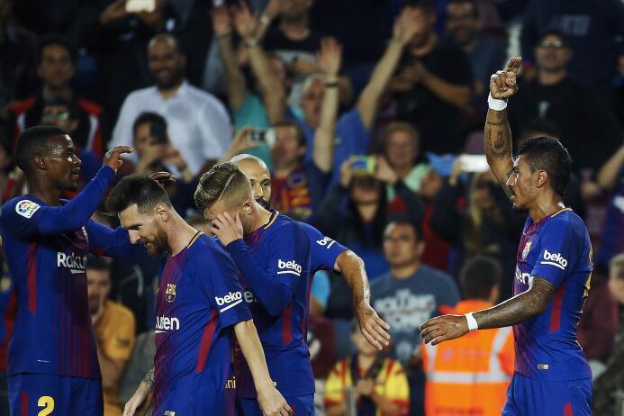 Faena de Messi en la goleada 6-1 del Barcelona sobre Eibar 6364145818921...