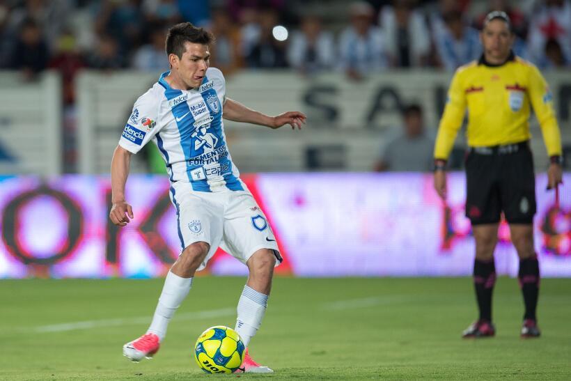 Puebla saca de Pachuca un meritorio empate sin goles Hirving Lozano 2.jpg