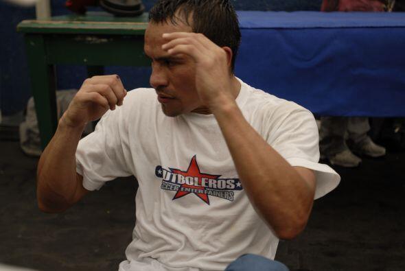 Juan Manuel Márquez entrena fuerte, con miras a al combate en el que exp...