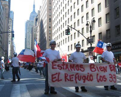 Todos lo países fueron representados, la comunidad chilena rindió tribut...
