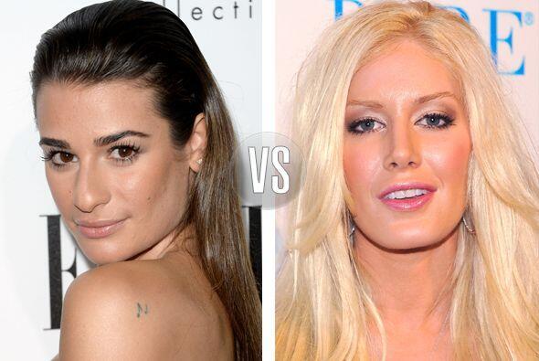Lea Michele y Heidi Montag tienen 27 años, pero la rubia se ha hecho tan...