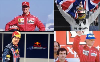 El alemán Michael Schumacher es el máximo ganador con siet...
