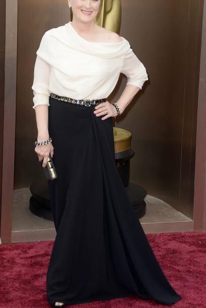 Meryl Streep llega a la 86 ª ceremonia anual de premios de la Academia e...