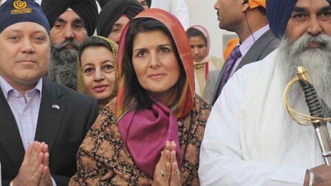 Nikky Haley en India