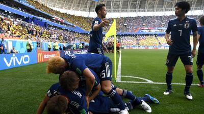 En fotos: Japón sorprendió y derrotó 2-1 a Colombia en partido del grupo H del Mundial