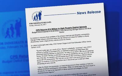 Director de las Escuelas Públicas de Chicago anuncia inversión en instit...