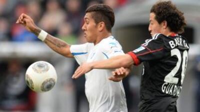 Guardado no pudo debutar con el pie derecho en la Bundesliga.