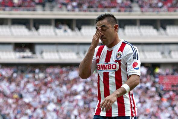 En cuestión de goles Marco lleva uno hasta el momento con el Guadalajara...
