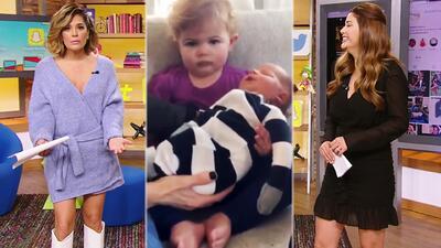 En video: la cara de poca felicidad con la que una niña conoce a su nuevo hermanito y que se hizo viral