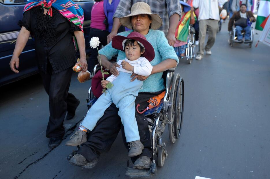 La tortuosa protesta de los discapacitados en Bolivia GettyImages-524210...