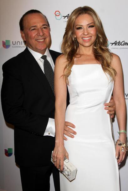 Thalía y Tommy Mottola siguen presumiendo su romance.