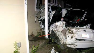 Increíblemente ambos ocupantes del vehículo salieron con v...