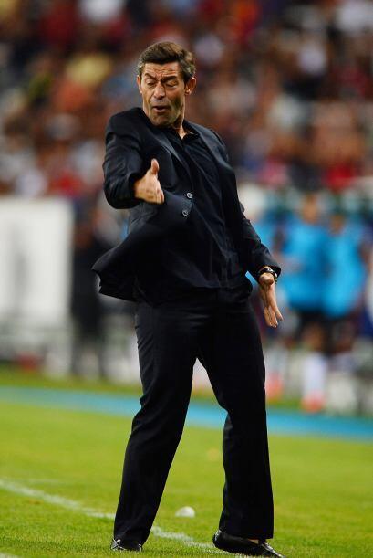 Se encaró con la prensa tras el partido en el que Santos remonta un 2-0...