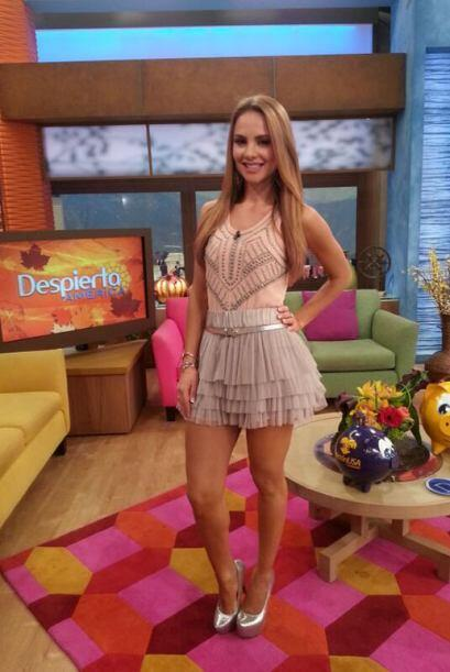 """Una fotico de mi outfit de hoy en @DespiertaAmeric"", mostró Ximena. (No..."