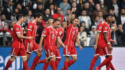 En fotos: Bayern Munich pasó a cuartos de final con dominio sobre Besiktas en Champions