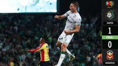 Golazo de Furch y adiós, Santos, 'sin despeinarse', venció a Monarcas