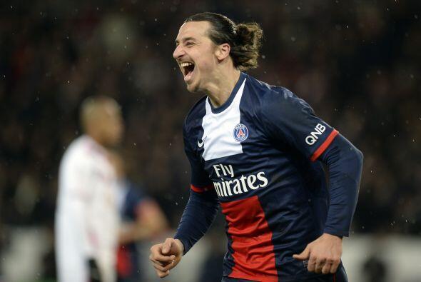 El octavo lugar le pertenece al sueco Zlatan Ibrahimovic, el delantero d...