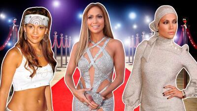 Del paliacate a la alta costura: una mirada a todo los looks de JLo en los Premios MTV
