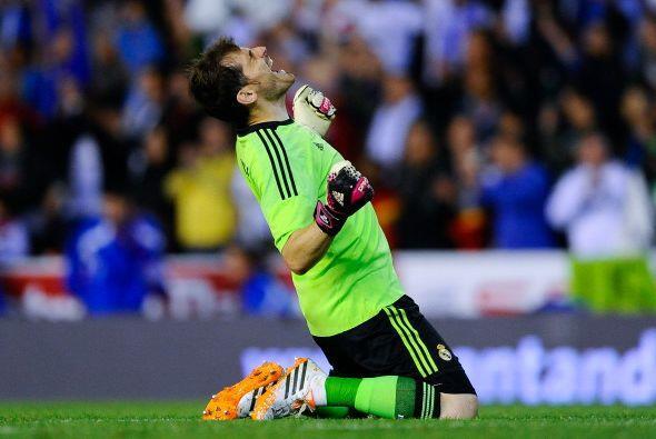 Iker Casillas celebró en grande el gol de Bale. El tanto que le marcó Ba...