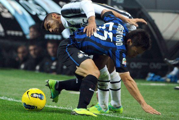 En el Inter vs. Juventus hubo intentos de bailes pero con poca suerte.