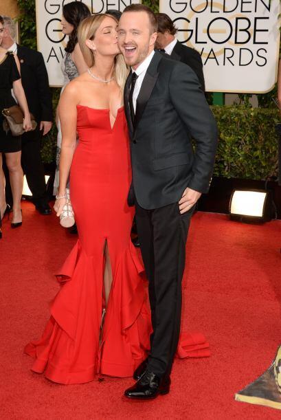 De los más divertidos en la alfombra roja fueron Lauren Parsekian y Aaro...