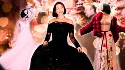 Con cuatro vestidos (incluido uno negro) Ángela Aguilar festejó su fiesta de XV años