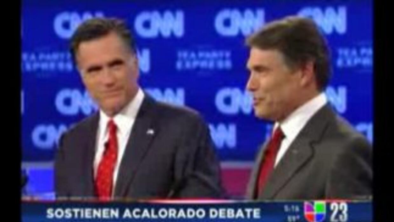 Acalorado tercer debate entre Rick Perry y Mitt Romney