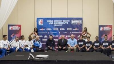 Sin problemas de peso los participantes de la Serie Mundial de Boxeo.