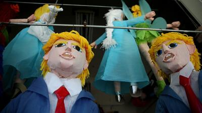 Venta de piñatas de Donald Trump se disparan en Los Ángeles  GettyImages...