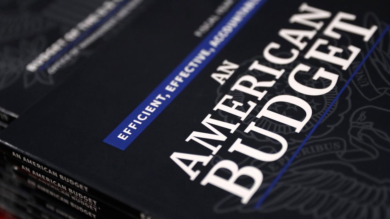 Copias del presupuesto de la administración Trump para el año 2019.