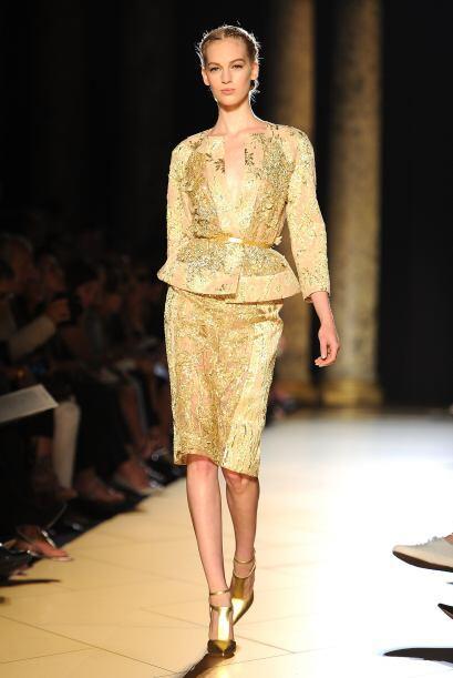 El diseño 'péplum' fue una manera muy original de llevar faldas y vestid...