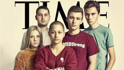 Estudiantes de Parkland en la revista Time