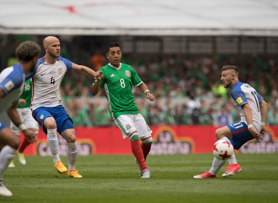 Golazo por bando y reparto de puntos en México 1-1 Estados Unidos 201706...