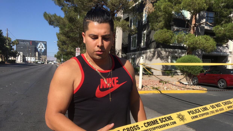 Carlos Alfaro-Sandoval, sobreviviente del tiroteo en Las Vegas.