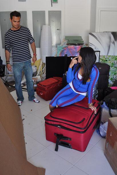 Los productores del show no podían creer las maletas con las que llegaro...
