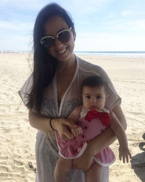 Fátima Torre y su hija